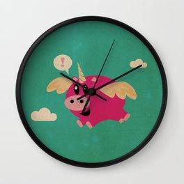 The Incredible Unipig! Wall Clock