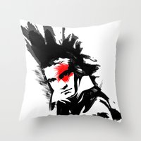 beethoven Throw Pillows featuring Beethoven Punk by viva la revolucion