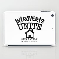 psychology iPad Cases featuring Introverts Unite! by Rendra Sy
