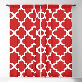 Arabesque Architecture Pattern In Red Blackout Curtain