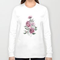 peony Long Sleeve T-shirts featuring peony by Dao Linh