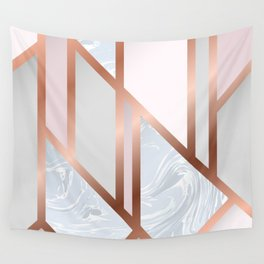 White Pastel Art Deco Wall Tapestry