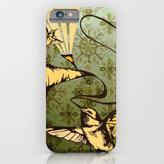 analog zine - song bird iPhone & iPod Case
