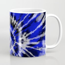 Dark Blue Tie Dye Coffee Mug