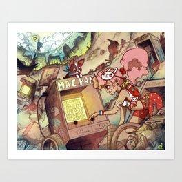 Teen Shelter Girl Art Print