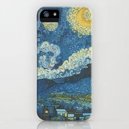 Swirly Night iPhone Case
