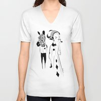 sia V-neck T-shirts featuring Breathe me - Emilie Record by Emilie R.