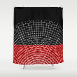 Geometric Rings Shower Curtain