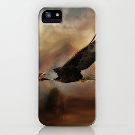 Eagle Flying Free iPhone Case