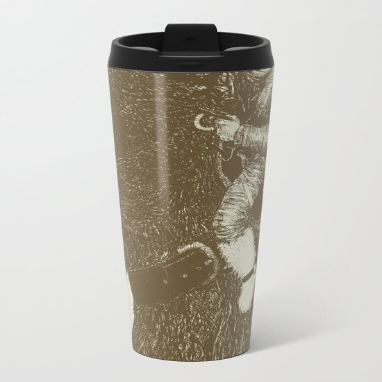 Bearpoleon Metal Travel Mug