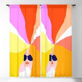 Girl Power - Rainbow Hair #girlpower Blackout Curtain