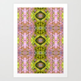Eccentric purple and yellow pattern Art Print