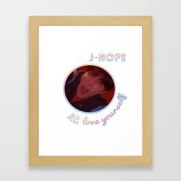 BTS Love Yourself Wonder Design - J-Hope Framed Art Print