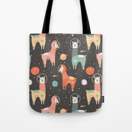 Astronaut Llamas in Space Tote Bag