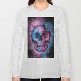 skull black art decor Long Sleeve T-shirt