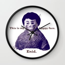 Enid: This is My Happy Face Wall Clock