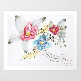 I'm Sorry - Hand Painted Watercolor Art Print