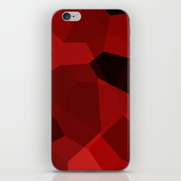 Red Polygon Pattern iPhone Skin