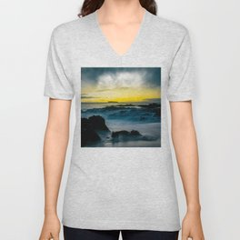 The Infinite Spirit Tranquil Island Of Twilight Maui Hawaii Unisex V-Neck