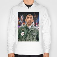 taxi driver Hoodies featuring Obama taxi driver by IvándelgadoART