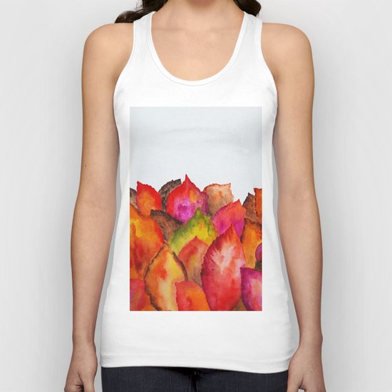 Autumn abstract watercolor 01 Unisex Tank Top