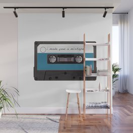 I made you a mixtape | Mix Tape Graphic Design Wall Mural