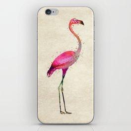 Pink Flamingo iPhone Skin