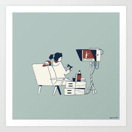 Video assistant in quarantine Art Print