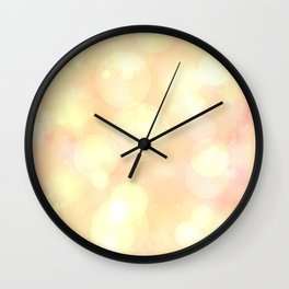 Champagne light Wall Clock