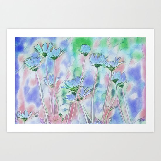 Coming Up Blue Art Print