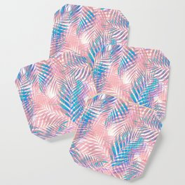 Palm Leaves - Iridescent Pastel Coaster