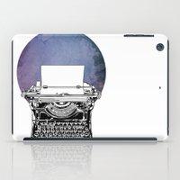 typewriter iPad Cases featuring Typewriter by Rebecca Joy - Joy Art and Design