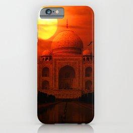 Taj Mahal Sunset iPhone Case