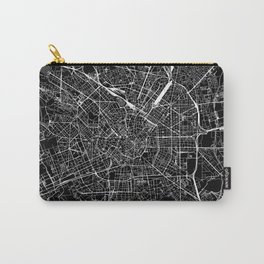 Milan Black Map Carry-All Pouch