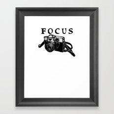Focus On Photography: Vintage 35mm Camera Framed Art Print