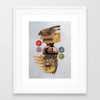 burger Framed Art Prints featuring Burger by Lerson