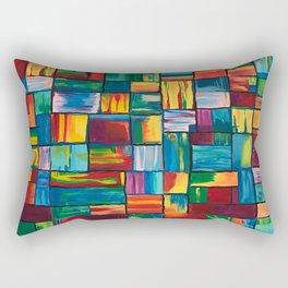Abstract Colorful Bricks Rectangular Pillow