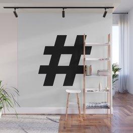 #hashtag Wall Mural