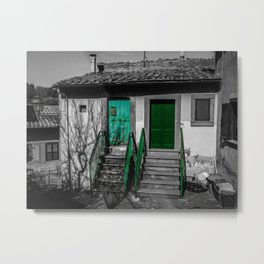 Vintage black and white Italian house Metal Print