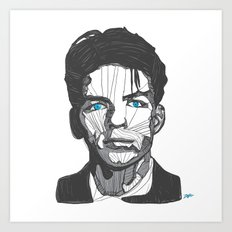 Ol' Blue Eyes Art Print
