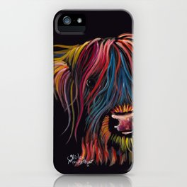 Scottish Hairy Highland Cow ' SWEET P ' by Shirley MacArthur iPhone Case