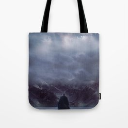 Gazing up into the sky Tote Bag