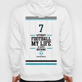 Lab No. 4 - Cristiand Ronaldo's football Inspiration Quotes Poster Hoody