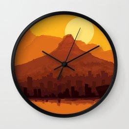 Cape Town - cityscape Wall Clock
