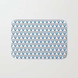 Paranoia (Grey and Turquoise) Bath Mat