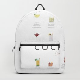 Cocktail Chart - Classic Cocktails Backpack