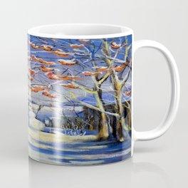 Morning snowman in the village Coffee Mug