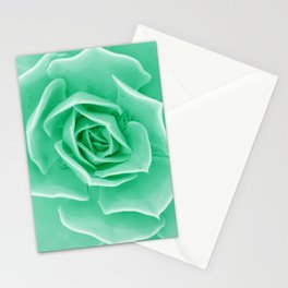 Minty succulent Stationery Cards
