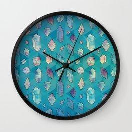 Healing Crystals 2 Wall Clock