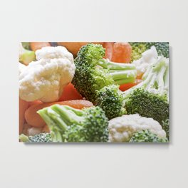 Broccoli, Cauliflower and Carrots Metal Print